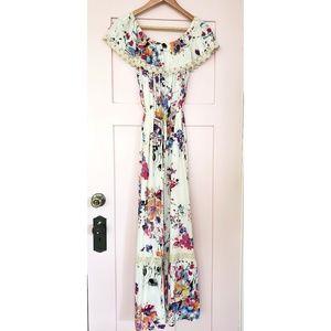 Alter'd State Off the Shoulder Maxi Floral Dress